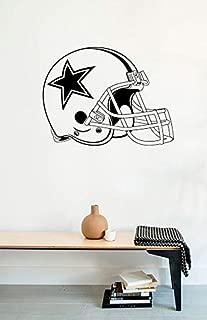 Wall Decals Dallas Cowboys Logo Helmet American Football Vinyl Stickers Mural M0359