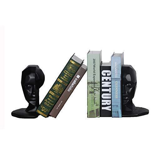 Zixin Sujetalibros sujetalibros, sujetalibros Heavy Duty, colección de figurillas, carácter Modelado, Conveniente for la Mesa, estantes, el hogar y, 2Pcs, Negro