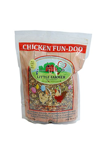 LITTLE FARMER PRODUCTS Chicken Fun-DOO Non-GMO, Soy-Free Chicken Treat   Premium Poultry Meal Worm, Vegetable & Herb Mix (3 lbs)