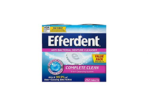 Efferdent Denture Cleanser Tablets, Complete Clean, 252 Tablets