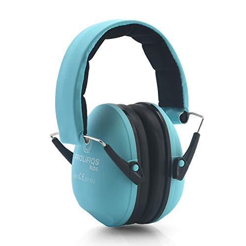 Prolifiqs Gehörschutz Kinder und Jugendliche I Lärmschutz Kopfhörer für Kinder + Jugendliche von 3 bis 16 Jahre I PVC-freie Lärmschutzkopfhörer für Jungen & Mädchen (Mint)