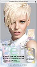 L'Oreal Paris Feria Multi-Faceted Shimmering Permanent Hair Color, Very Platinum, Pack of 1, Hair Dye