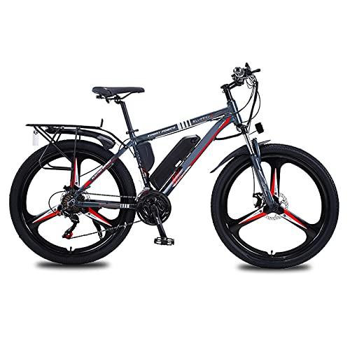 YLKCU Bici elettriche, Bici elettriche da 26 Pollici per Adulti Mountain Bike con Motore da 350 W, Batteria Rimovibile da 36 V/10 Ah, Ingranaggi a 21 velocità, Freni a Doppio Disco
