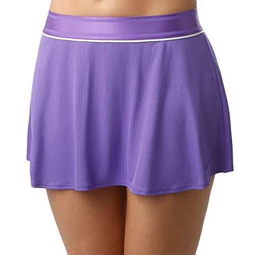 NIKE W Nkct Flouncy Skirt Falda, Mujer, Psychic Purple/White/Psychic Purple, S