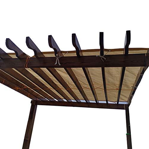 Red de Sombra Resistente a Los Rayos UV, 85% Paño de Sombra Bloqueador Solar con Ojales para Patio Trasero de Jardín de Pérgola al Aire Libre, Beige (Size : 4X8m)