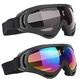 BETOY - Gafas de esquí para niños, protección UV, antivaho, para hombre y mujer, para deportes de invierno, protección UV400, gafas de snowboard, gafas antimareo, gafas de nieve para esquí