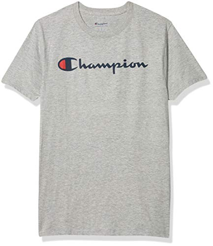 Champion Graphic Jersey Tee (GT280) Light Steel Screen Print Script, L