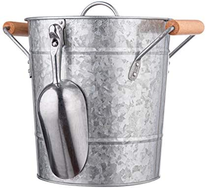 Royalty Art Vintage Ice Bucket with Lid Scoop and Carry Handles for Parties Backyard Barbecues product image