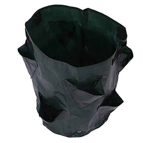 Dragonaur - Outil de plantation - 8 poches - Pots de placage - Pour pommes de terre - Fraises - Sac de culture vertical pour jardin Blackish Green