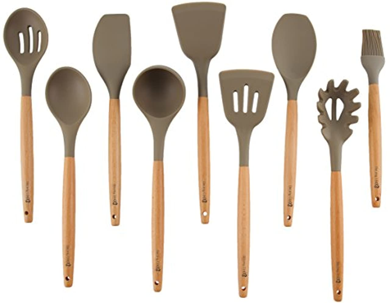 Deceny CB Kitchen Utensils Set Silicone Cooking Utensils for Nonstick Cookware 9 Piece Cooking Set