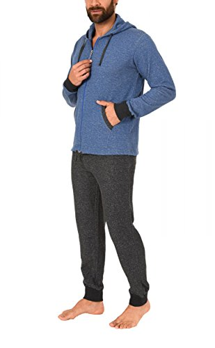 Normann Chilliger Heren Huispak Homewear French Terry - 271 116 99 444, Kleur: blauwmelange; Maat: 58
