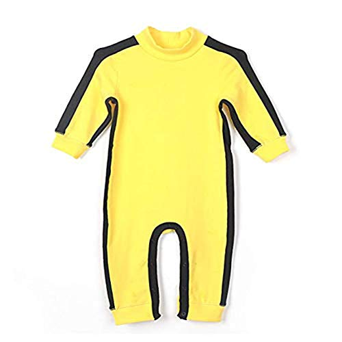Fairy Baby Newborn Baby Boys Outfit Romper Jumpsuit Long Sleeve Bodysuit (12-18M) Yellow
