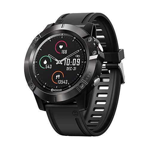 Zeblaze Vibe 6 Smartwatch Standalone-Musikplayer Empfangen/Tätigen eines Anrufs Herzfrequenz-Blutdruck 25 Tage Akkulaufzeit Smartwatch-Schwarz