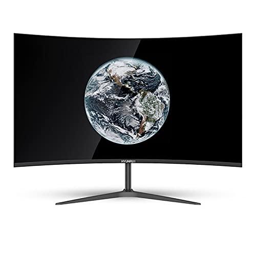 Monitor de juegos IPS de 25 pulgadas, Monitor de computadora curvo LED Full HD 1080P, Frecuencia de actualización de 75 Hz, Cuidado de ojos, Filtro de luz azul y sin parpadeo, VGA + HDMI