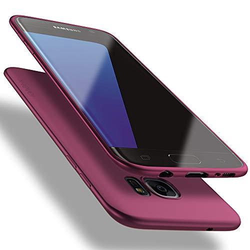 X-level Cover Samsung Galaxy S7 Edge, [Guardian Series] Ultra Sottile e Morbido TPU Protettiva Custodia Silicone Rubber Protezione Cover per Samsung Galaxy S7 Edge, Vino Rosso