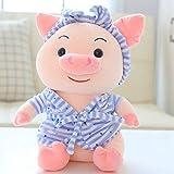 FEJK Kawaii Cute Pyjamas Pig Stuffed Cute Animal Piggy Peluches para niños Niños Apaciguar Muñeca Regalos 30Cm