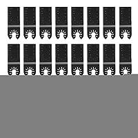 黒の振動マルチツールブレード、25個の高硬度振動鋸刃、振動電動工具用の高炭素鋼