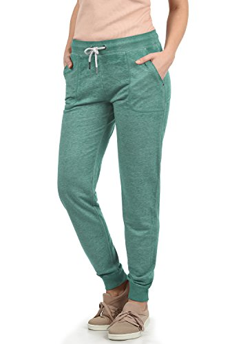 DESIRES Betty Damen Sweathose Sweatpants Relaxhose Mit Melierung Regular Fit, Größe:M, Farbe:North ATL. (3324M)