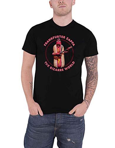 Frank Zappa T Shirt Hot Dog Logo Nue offiziell Herren Schwarz