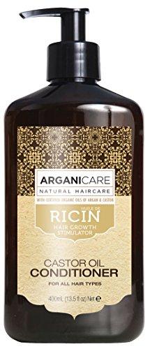Arganicare - Acondicionador reconstructor con aceite de ricino orgánico, 400 ml