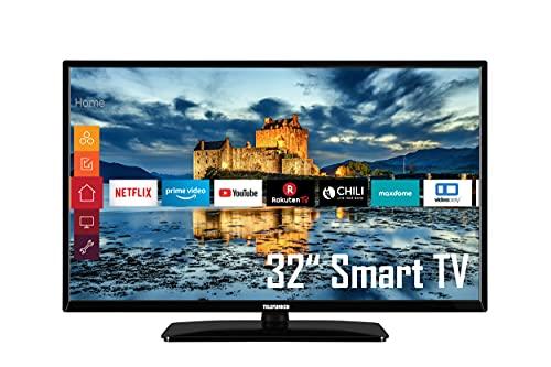 Telefunken D32H551N1CWI 32 Zoll Fernseher (HD-ready, Triple-Tuner, Smart TV, Prime Video / Netflix / YouTube), Schwarz
