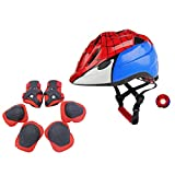 Atphfety Kids Helmet Set for 3-8 Years,Toddler Helmet Knee Elbow Pads Wrist Guards Adjustable Bike Skating Skateboard Cycling Scooter Rollerblading Helmet for Boys Girls