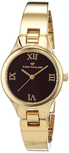 TOM TAILOR Watches Damen Analog Quarz Uhr mit Edelstahl beschichtet Armband 5414403