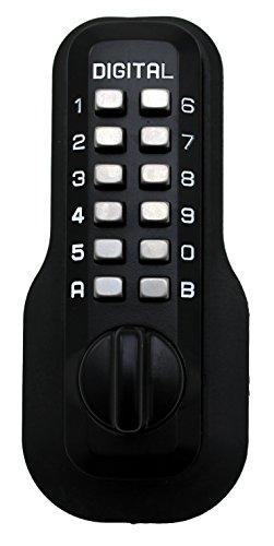Digital Door Lock M210 Mechanical Keyless Deadbolt, Jet Black