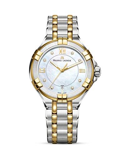 Maurice Lacroix Damen Analog Quarz Uhr mit Edelstahl Armband AI1006-PVY13-171-1