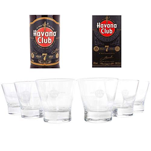 HAVANA Club Gläser 7 Jahre 6er Set Rum Tumbler geeicht ~mn 430 5e1r