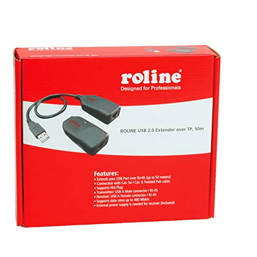 ROLINE USB 2.0Verlängerung über RJ45 max. 50m