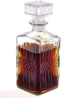 【morning place】 デキャンタ クリスタル ボトル ヴィンテージ風 ワイン ウィスキー ブランデー に (Dタイプ)