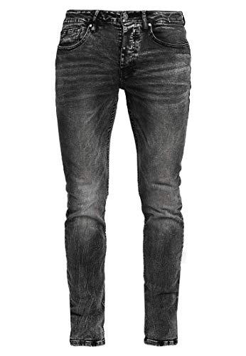 Tigha Morty 7124 Herren Jeans, Farbe:Schwarz, Größen:34W / 34L