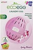 Ecoegg - Detergente ecológico en Perlas para Lavar la Ropa (hasta 720 Lavados, Aroma de Flores), diseño de Huevo