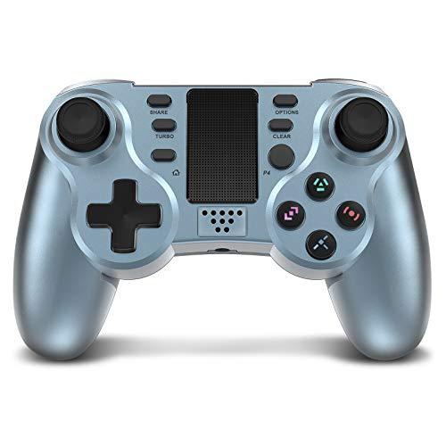 Manette sans fil pour PS4, Powerlead Manette de jeu pour Playstation 4 Contrôleur de Jeu sans Fil Double Vibration Gamepad avec LED colorées et pavé tactile