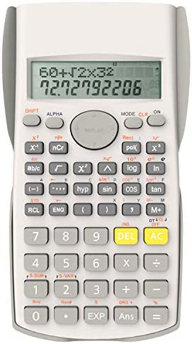 Helect 2-Line Engineering Scientific Calculator, Suitable for School and Business, Black