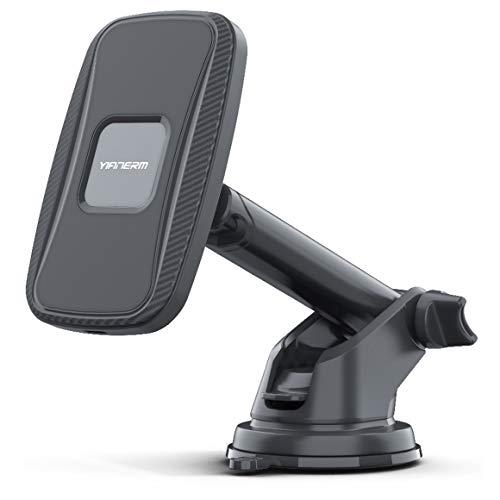 Yianerm Cargador Inalámbrico Coche Soporte Magnetico Teléfono Móvil Coche,QI-Enabled 15W/10W/7.5W/5W Smartphones Carga Rápida,Compatible con iPhone/Samsung/Huawei etc