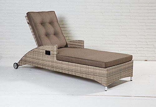 La Casa di Caesar Sun Lounger Natural Wicker Turin Garden Furniture Polyrattan Garden Lounger