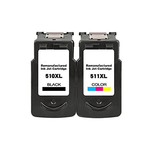 YXYX Toner Compatible para Canon PG510 511 Reemplazo del Cartucho para Canon MP240 MP250 MP260 MP270 MP272 MP280 MP480 MP490 MP492 MX320 MX330 Impresora, Alta saturación Suit