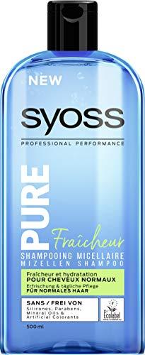 3x Syoss Shampoo Pure Fresh Mizellen Shampoo für normales Haar je 500ml