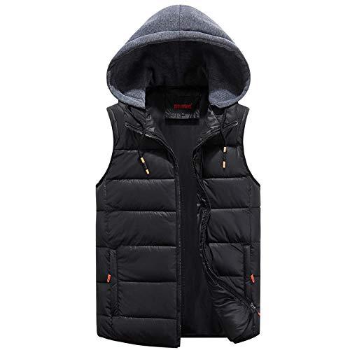 XFX1990 heren winterbodywarmer katoen casual dik college red trenchcoat mouwloos jack heren klassiek vest