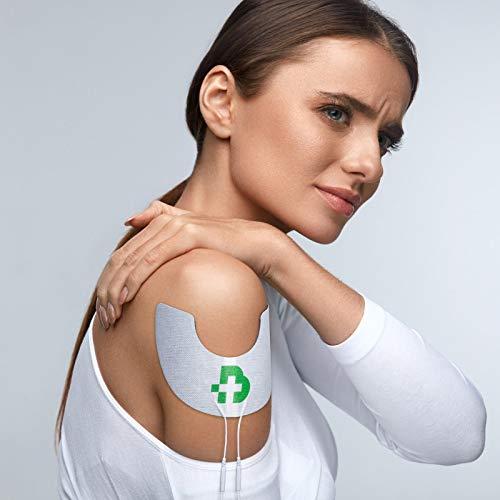 TESMED Shoulder 2 elettrodi di qualità Superiore per Il Trattamento delle Spalle, Non Necessitano di Gel