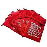 UICerland Set di 6 sacchetti per microonde, patate, fornello e patate, ideali solo in 4-6 minuti, colore: rosso