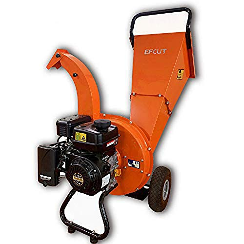 EFCUT C30 Wood Chipper Shredder Mulcher 7 HP 212cc Heavy Duty Engine Gas Powered 3 inch Max Wood Diameter Capacity Reduction Rate 20:1 3-Year Warranty, EPA/CARB Certified