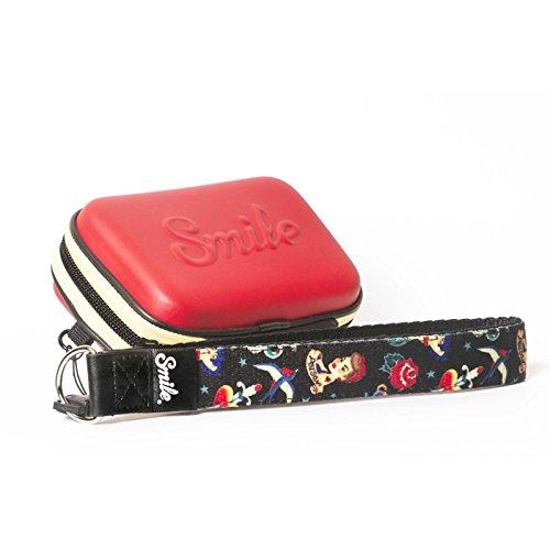 Smile Pin Up - Funda para cámara compacta, Rojo