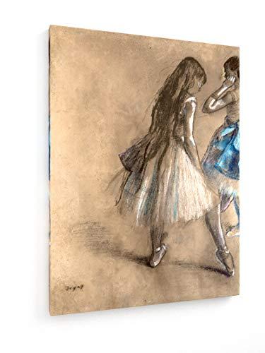 weewado Edgar Degas - Bailarina descansando - Pastel - ca. 1878-30x40 cm - Impresion en Lienzo - Muro de Arte - Canvas, Cuadro, Poster - Old Masters/Museum