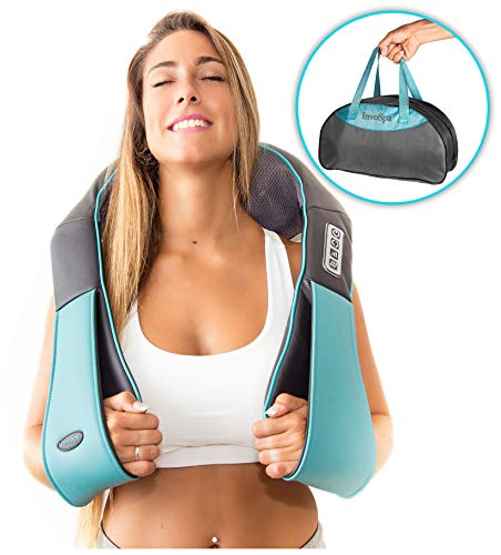 Shiatsu Back Shoulder and Neck Massager with Heat - Deep Tissue Kneading Pillow Massager for Neck, Back, Shoulders, Foot, Legs - Electric Full Body Massage, Relieve Muscle Pain - Stocking Stuffers Git