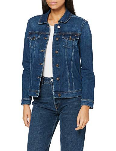 Tommy Hilfiger Vivianne Giacca in Jeans, Blu (Denver Dark Blue Comfort 911), Small Donna