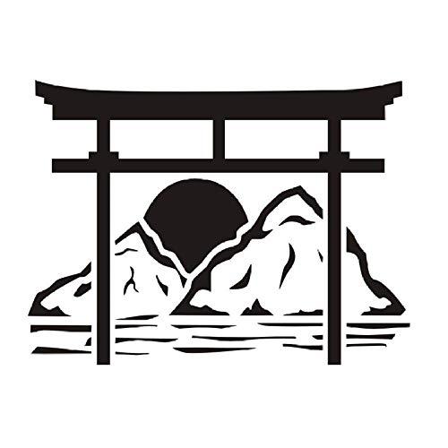 Torii Japanese Gate Wandtattoos Vinyl-Aufkleber Home Decor Abnehmbare Wandaufkleber für Schlafzimmerzubehör 78X58Cm