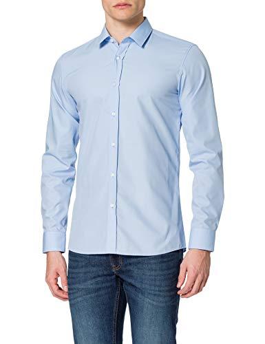 HUGO Elisha02 Camisa, Light/Pastel Blue457, 40 para Hombre
